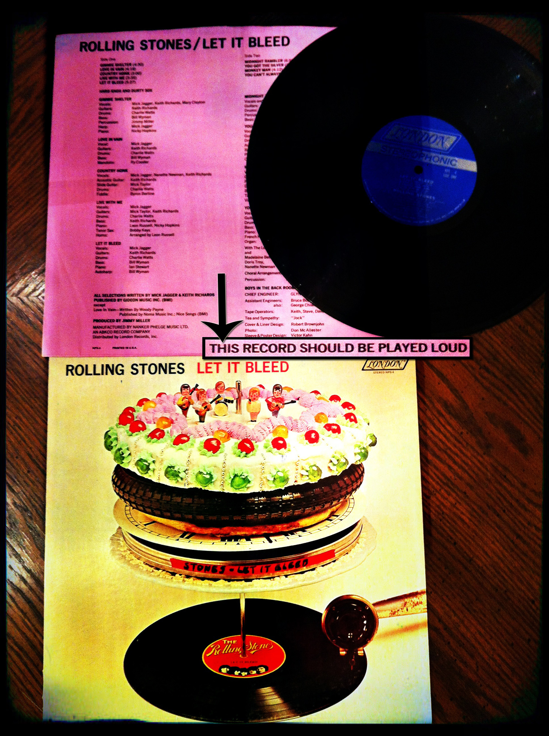 Rolling Stones Let It Bleed Back Cover