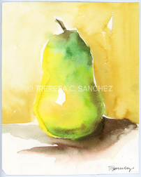 Pear Watercolor Painting