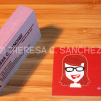 Red Tess Freelance Business Card Design
